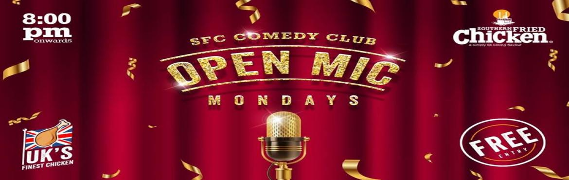 Book Online Tickets for SFC - Comedy Club open mic comedy event, Hyderabad. Think you\'re funny? Need a stage to try it out? Come, join us at Southern Fried Chicken, Madhapur on a Monday night if you\'re hungry for laughter and good food. We will give you the mic, you give us the jokes! Seasoned performers will get 5 m