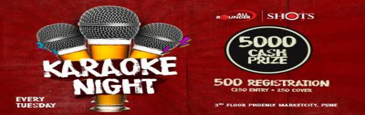 Book Online Tickets for Karaoke Night at AllRounder Shots, Pune. Let your vocal cords loose at AllRounder Shots every Tuesday! Karaoke night is the only event when even bathroom singers get a chance to sing out in the open without being judged, in front of a live audience. So no matter how good/bad your singing sk