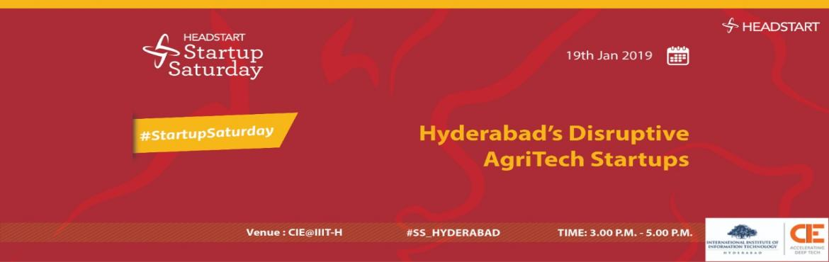 Book Online Tickets for Disruptive AgriTech startups in Hyderaba, Hyderabad. About The Event Disruptive AgriTech startups in Hyderabad A disruptive technology is a new use technology that breaks the business models of the companies thereby making space for new market and value network. Agriculture is that sector of our countr