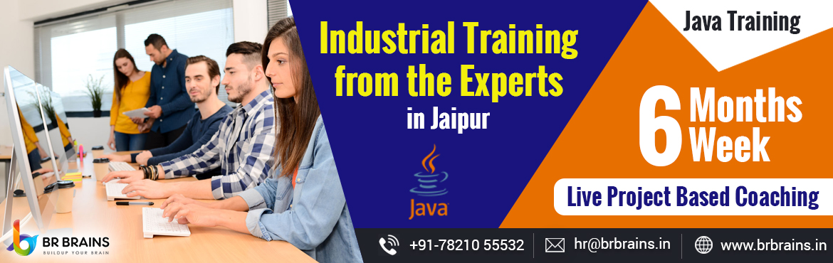 Book Online Tickets for Live project Based Java Internship Progr, Jaipur. BR Brains is known as a top rated Java training institute in Jaipur. Our main motive is to turn our java students into java experts. We have a blend of java certified professionals and the course has been designed by our experts. Courses include