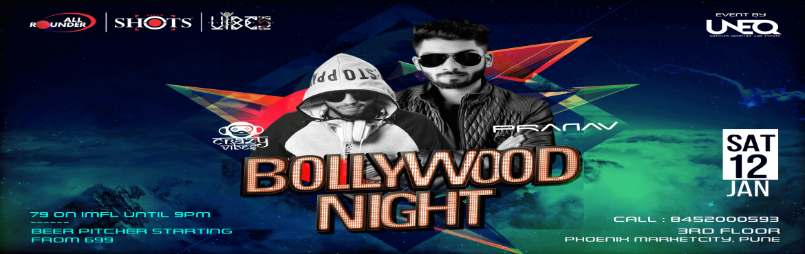 Book Online Tickets for Bollywood Night at AllRounder Shots, Pune. Hitting the clubs for 'Bollywood Night' is one of the best ways to get an authentic Pune experience. So if you are looking to shake a leg or throw some thumkhas to your favorite Bollywood songs, we've got just the best one