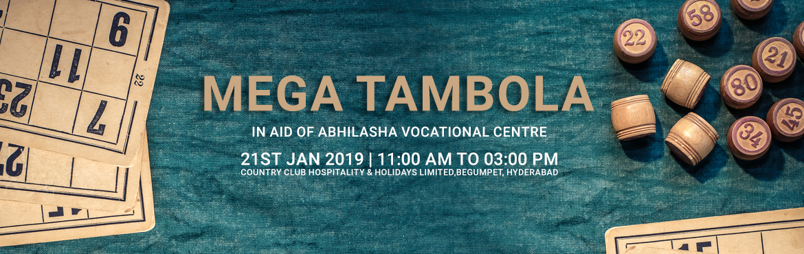 Book Online Tickets for Mega tambola in aid of Abhilasha vocatio, Hyderabad. Siddham an NGO for a social cause is conducting it\'s annual fund raiser tambola in aid of abhilasha vocational centre for the intellectually challenged people to help them in leading a decent life.Many exciting on the spot games gifts and lucky dips