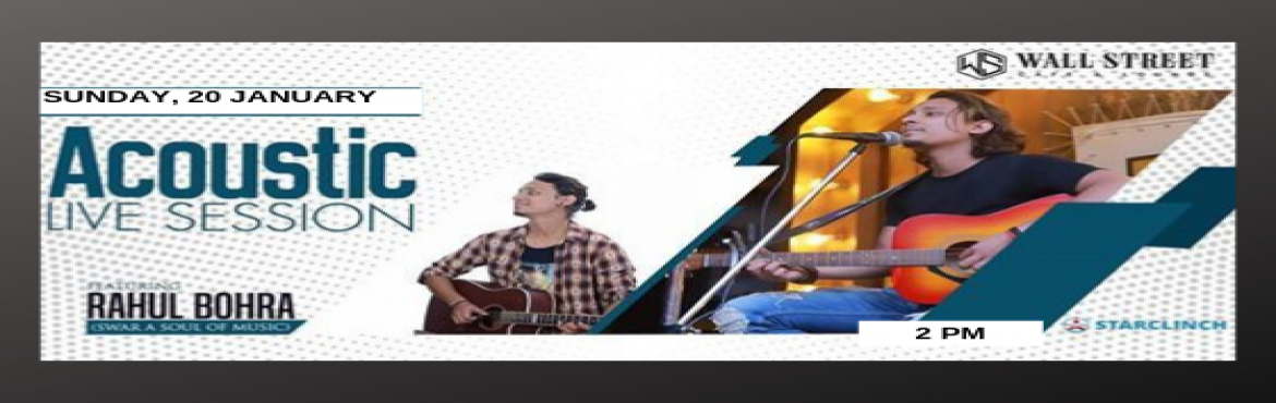 Book Online Tickets for Rahul Bohra - Performing LIVE at Wall St, New Delhi. Music is love, love is music, music is life, and I love my life.   If you\'re a bollywood song lover then you should come to enjoy a soul of bollywood songs with the unplugged volume of sound with Rahul Bohra at wallstreet cafe & lounge on 2