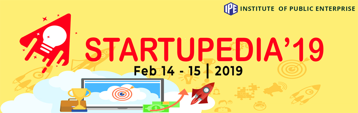 Book Online Tickets for IPE Startupedia: A National Level Startu, Hyderabad.        DO YOU HAVE A BUSINESS IDEA THAT YOU WANT TO SHARE??? We have STARTUPEDIA!. One of the best platforms to project your business plans on the 14th and 15th of February at IPE in Hyderabad! Who can participate?. Working professiona