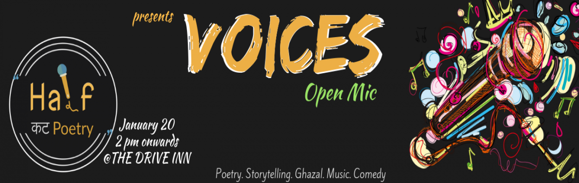 Book Online Tickets for Voices : Open Mic, Kolkata. An open mic curated just for you. Packed with a punch of Poetry, sprinkled with the right amount of storytelling, stirred with ghazals, served with some soothing music & stand-up comedy for dessert.If you are a performer, get ready with your best