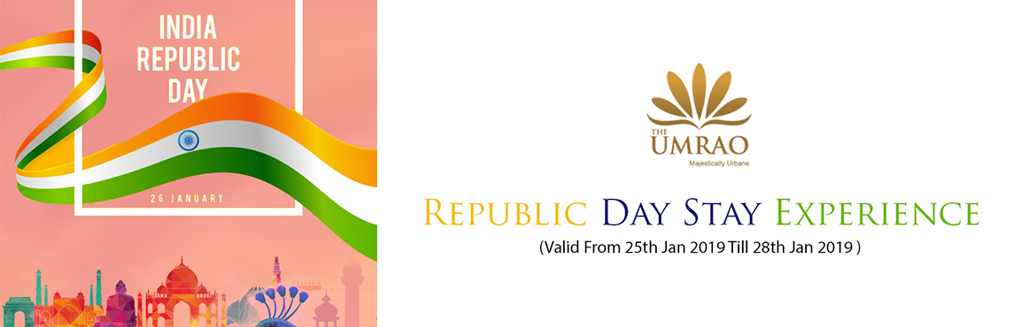 Book Online Tickets for Celebrate 70th Republic Day At UMRAO, New Delhi. STAY OF COUPLE AT THE UMRAOROOM PACKAGEVALID FROM 25TH JAN,19 TILL 28TH JAN,19Check-in 12:00 Noon; Late check-out at 14:00 HrsStay for 2 Adults onlyWelcome drink on arrivalFree access to WIFI during stayAccommodation for a coupleB/F, Lunch, dinner in
