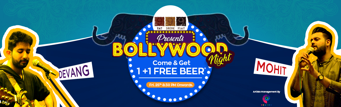 Book Online Tickets for Bollywood Night with Free Beer, Jaipur. To all the Bollywood fans who had set up a prayer has now come true! 999 Restro Lounge presents to you \'\'Bollywood Night\'\' featuring Devang and Mohit this Friday who is all set to make you unleash the filmy keeda inside you and make you swing on
