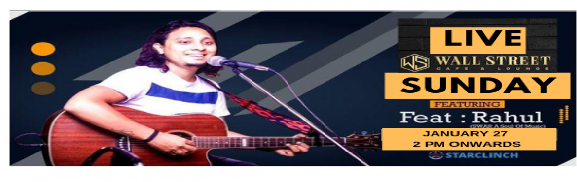 """Book Online Tickets for Rahul Bohra - Performing LIVE at Wall St, New Delhi.     """"Music gives a soul to the universe, wings to the mind, flight to the imagination and life to everything."""" So get ready for the mesmerizing night with full of sweet music,If you\'re a Bollywood song lover then you should come to enjoy"""