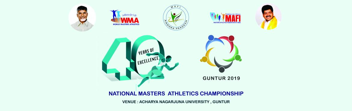 Book Online Tickets for 40th National Masters Athletics Champion, Guntur. Masters Athletics Federation of India (MAFI) is a registered body and official speaker for the Master Athletes participation in all recognized meets throughout the world. It holds affiliations from World Masters Athletics and Asian Masters Athletics.