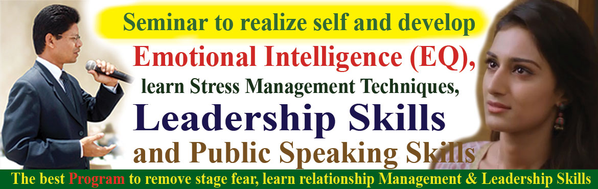 Book Online Tickets for Role of Emotional Intelligence in develo, Hyderabad. Role of Emotional Intelligence (EQ) in developing Leadership Skills.  Future belongs to them, who are strong in emotional intelligence with core values such as commitment, responsibility and trustworthy Timing:10:30am - 1:30pm. Maximum