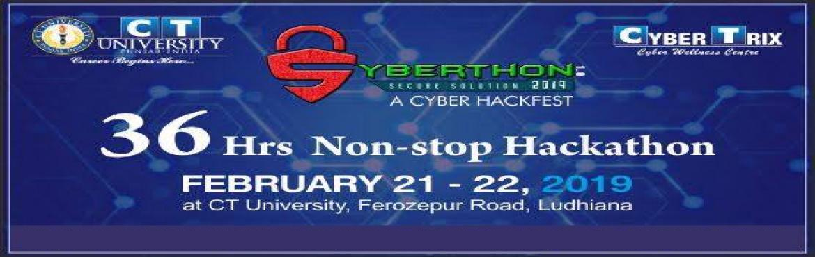 Book Online Tickets for Syberthon, Ludhiana. Cyber Wellness Centre: Cybertrix, CT University is going to organize one of the major events Hackathon fest 'Syberthon' which is a 36-hour,  non-stop  Hackathon,  sponsored  by  CT  University,