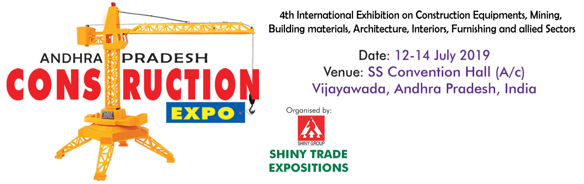 Book Online Tickets for ANDHRA PRADESH CONSTRUCTION EXPO, Vijayawada. It's our pleasure to proudly announce that the 4th edition ofAndhra Pradesh Construction and Build Tech Expo - 2019will be held from12-14 July 2019atSS Convention, Vijayawada (AP), India. This event will mainly focus on