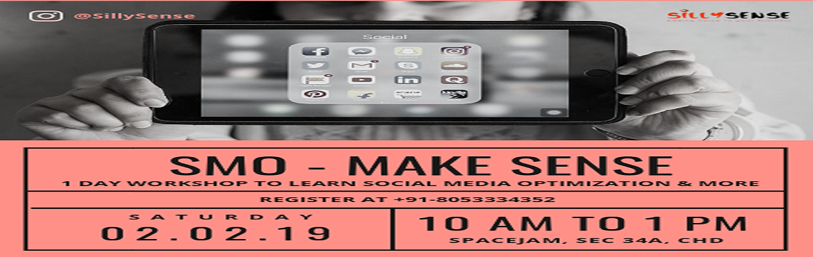 Book Online Tickets for SMO - Make Sense , Chandigarh. Today, social media is the go-to destination for (C)ustomer (A)cquisition, (R)etention and (E)ngagement. A focus on CARE will be the key to creating profitable business outcomes in 2019. Are you ready to master the art of Social Media Optimization (S