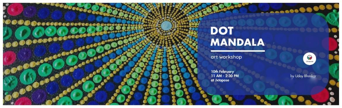 Book Online Tickets for DOT MANDALA WORKSHOP, Hyderabad. The art of Dot Mandalas involves creating abstract circular patterns emanating outwards from once center point with dots in a series of clusters in varying sizes and colors.Although very complicated to look at, Dot Mandalas are actually quite easy to