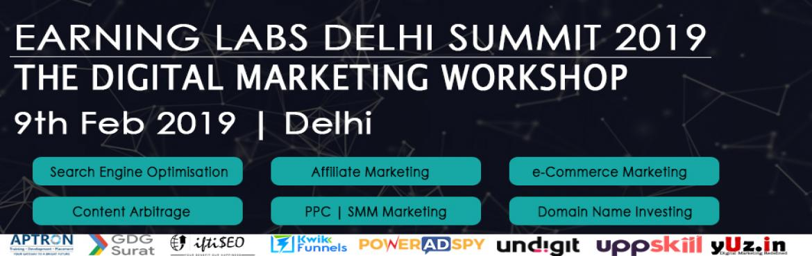 Book Online Tickets for Earning Labs Delhi Summit, New Delhi. Earning Labs Delhi Workshop is the ultimate destination for India\'s top content creators, bloggers, digital marketers, e-commerce ninjas, and affiliate marketers. It\'s an extensive opportunity to network with our industry's brightest minds an