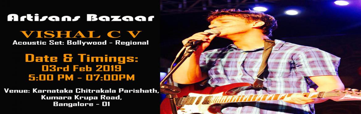 Book Online Tickets for Vishal CV Live Performance, Bengaluru. Full Day Shopping and evening Live singing Performance by Vishal CV @ \