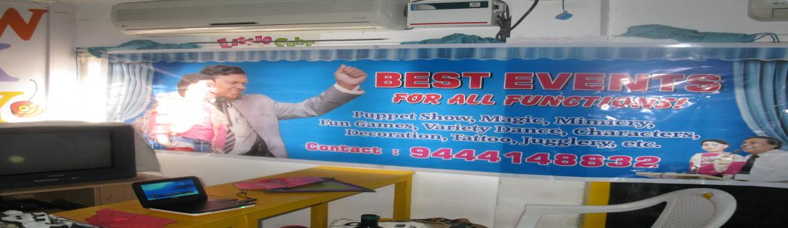Book Online Tickets for BEST BIRTHDAY EVENTS IN CHENNAI, Chennai. BEST EVENTS PROVIDE ALL THE EVENTS, VIZ. VENTRILOQUISM, PUPPET SHOW, MAGIC, MIMICRY, FUN GAMES, VARIETY DANCE, ARTS LIKE TATTOO, MEHENDI, ETC. DECORATION, ETC. ETC. AT A REASONABLE COST. PL. CONTACT SHANTHAKUMAR AT 94441 48832