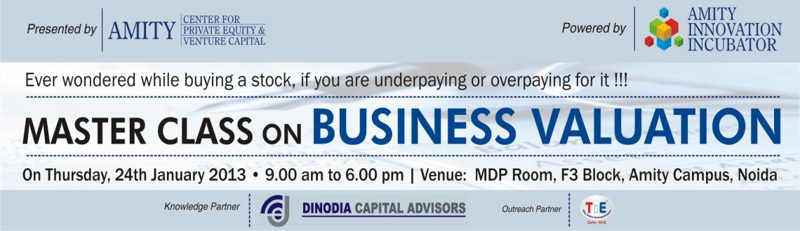 Master Class on Business Valuation by Amity Center of Private Equity & Venture Capital