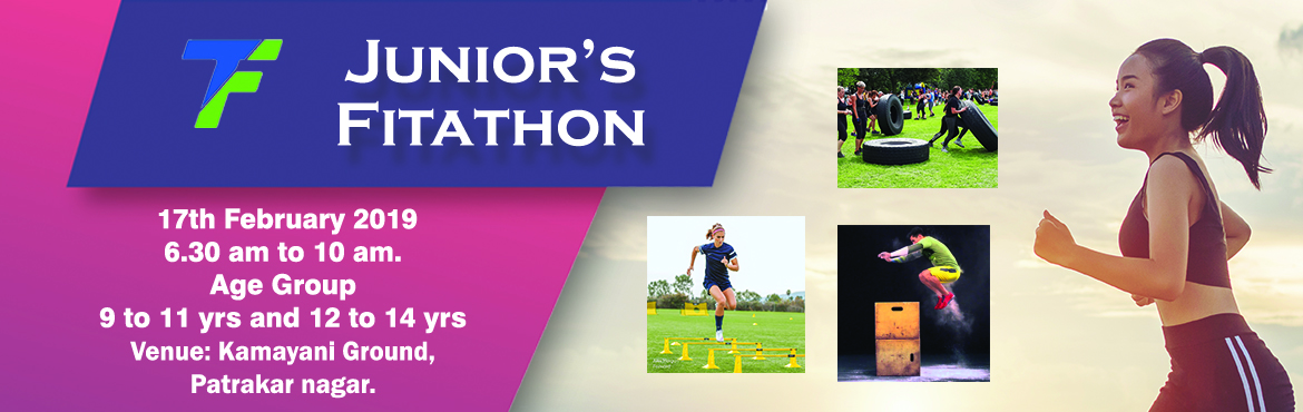 Book Online Tickets for Juniors Fitathon 2019, Pune. One of its kind event. First time in PUNE! Functional Fitness Circuits where the juniors will test their athleticism. Highlights: Speed workouts, Agility, Tyre pull-push, Plyometrics, CrossFit modules, Tyre Flip, Functional Circuit Training, Ba
