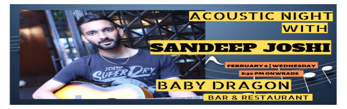 "Book Online Tickets for Sandeep Joshi - Performing LIVE at Baby , Noida. ""Music is a language that doesn't speak in particular words. It speaks in emotions, and if it's in the bones, it's in the bones."" So, Turn your regular weekday evening into an evening full of music with Sandeep Joshi per"