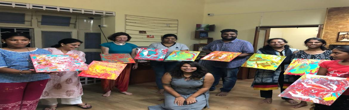 Book Online Tickets for FLUID ART WORKSHOP, Surat. Welcome to the world of fluid acrylic art ;which are simple acrylic colors in a runny consistency applied to canvases or paper and simply allowed to flow in a direction that you want.The end result is a beautiful and sometimes unexpected design in fr