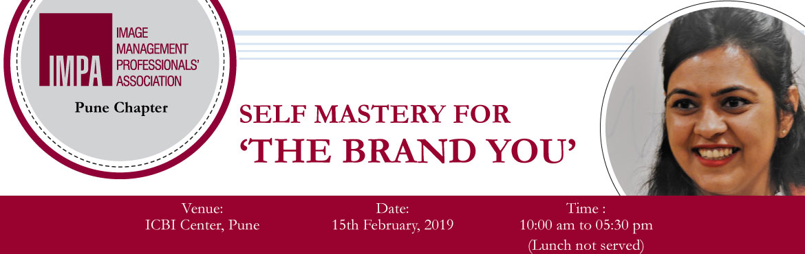 Book Online Tickets for Self Mastery for The Brand You, Pune. About the expert - Ridhima Dua  Ridhima Dua is a Certified NLP Practitioner, Leadership Coach, Facilitator and Corporate Trainer. Her expertise lies in NLP and applying it in Business Environments.  She has 13+ years versatile experience