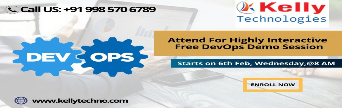 Book Online Tickets for Become An Expert Of DevOps By Attending , Hyderabad.   Become An Expert Of DevOps By Attending Free Demo On 6th Feb @ 8:00 AM Kelly Technologies In Hyderabad \'DevOps Demo\' At Kelly Technologies In Hyderabad will make you more Proficient DevOps Training In Hyderabad is one among the best and well