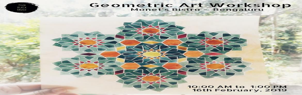 Book Online Tickets for Geometric Art Workshop in Bangalore , Bengaluru. About the workshop In this \'Geometric Art\' workshop, you will be equipped with the basic guidelines on how to construct simple to complex patterns.You will have hands-on experience in creating patterns, with step by step instructions.These de