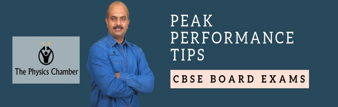 Book Online Tickets for 10th CBSE Board Exams - PEAK PERFORMANCE, Kochi.  10th CBSE Board Exams - PEAK PERFORMANCE    LEVERAGE your Current Study Level for Optimal Board Exam Performance EXTRACT the best output from your months of preparation ADOPT time-tested strategies used by Top Rank Holder Students PRESENT