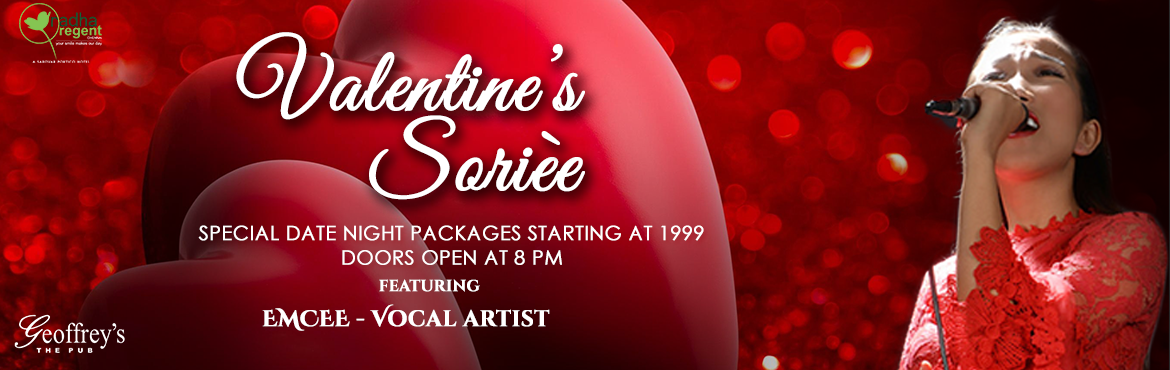 Book Online Tickets for VALENTINEs 19 - Hotel Radha Regent, Chennai. Valentine\'s is a day to get together and celebrate the joy of each other\'s Love under the most romantic roof at Geoffrey\'s. Bring your loved ones over for a fabulous wine and dine experience provided by our avant-garde staff. To make your night ev