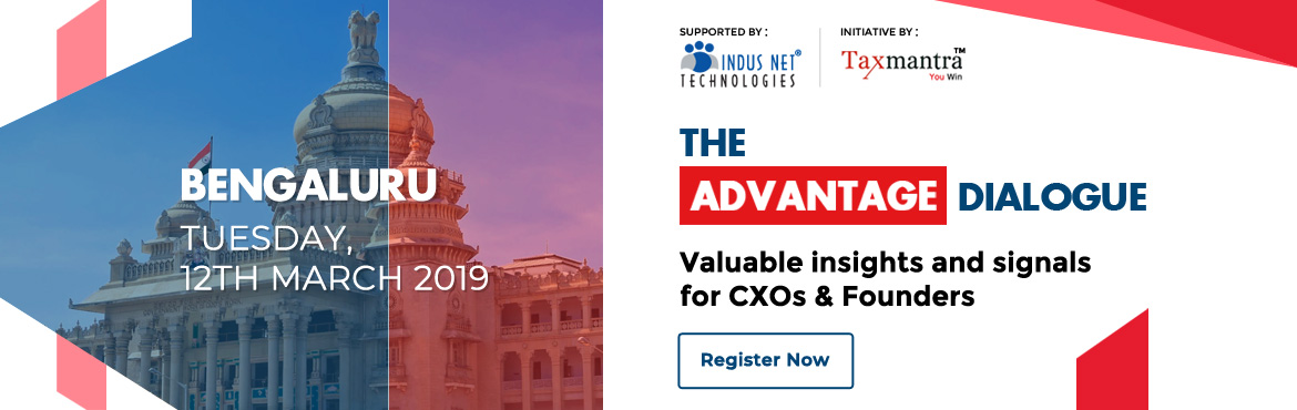 Book Online Tickets for The Advantage Dialogue - TAD 2019 Bengal, Bengaluru. The Advantage Dialogue 2019 is a3 city tour by Taxmantra Global.Taxmantra Global is a global taxation and law firm serving leading tech companies, established and emerging businesses.The Advantage Dialogue 2018 at Bangalore was a big succ