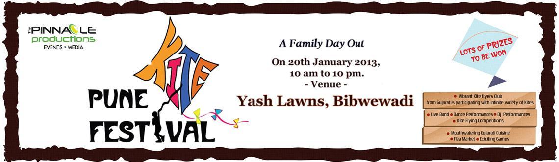 PUNE KITE FESTIVAL ON 20th JAN. 2013 @ YASH LAWNS, BIBWEWADI