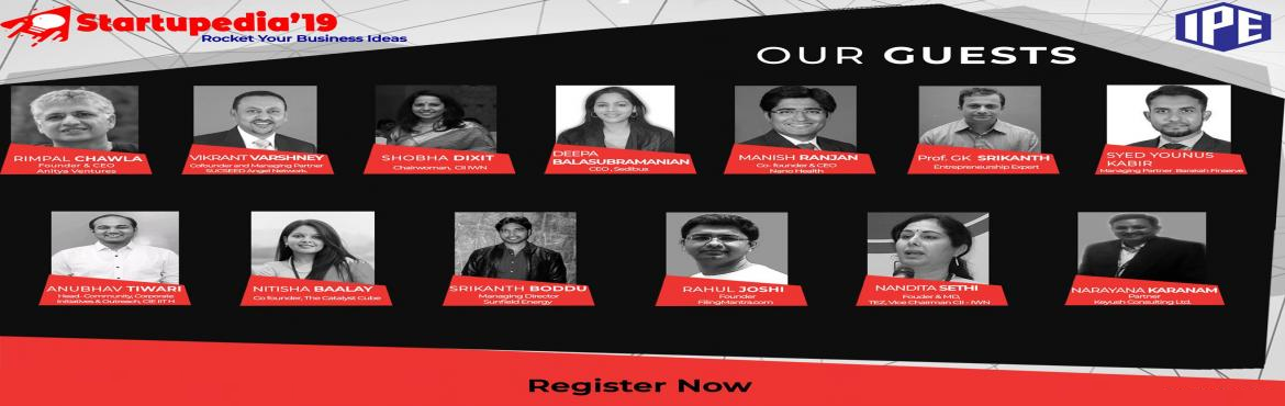 Book Online Tickets for Startupedia19 Speaker Series, Hyderabad.  The Startupedia team cordially invites you to participate in Startupedia\'s Speaker series on 14th Feb 2019 from 10 am. Industry captains and Startup ecosystem experts will share their insights into various sectors like Blockchain technologies,