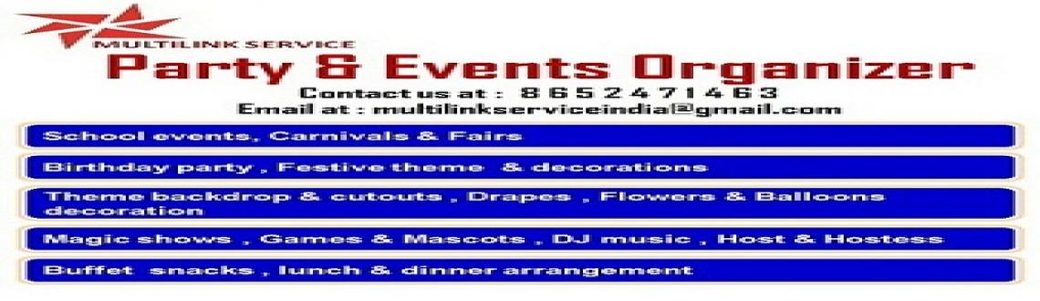 Events & Party arrangement in budgeted rates