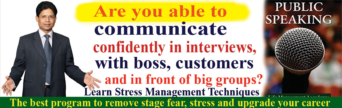 Book Online Tickets for Public Speaking Seminar, Hyderabad. Welcome to Public Speaking Seminar in the evening 7pm- 9pm.  Are you able to communicate confidently in interviews, with boss, colleagues, and customers and in front of big group? I realized public speaking is a common source of stress for
