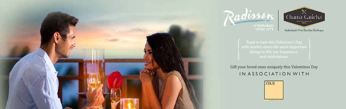 Book Online Tickets for Valentines Day - Under The Sky Dining at, Hyderabad. This Valentine's Day, you can profess your affection to your loved one in the most intimate and exceptional way at Chama Gaucha, Radisson HITEC City. Dine under the stars in a cozy, intimate set up with live music that will set your mood j