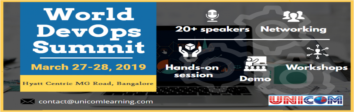 Book Online Tickets for World Devops Summit 2019 - Bangaore, Bengaluru. World Devops Summit 2019 - BangaoreDevOps now is in its seventh /eighth year of practice but the old architecture is no longer able to support the speed of delivery and so needs the additional help of Microservices for incremental change. Microservic