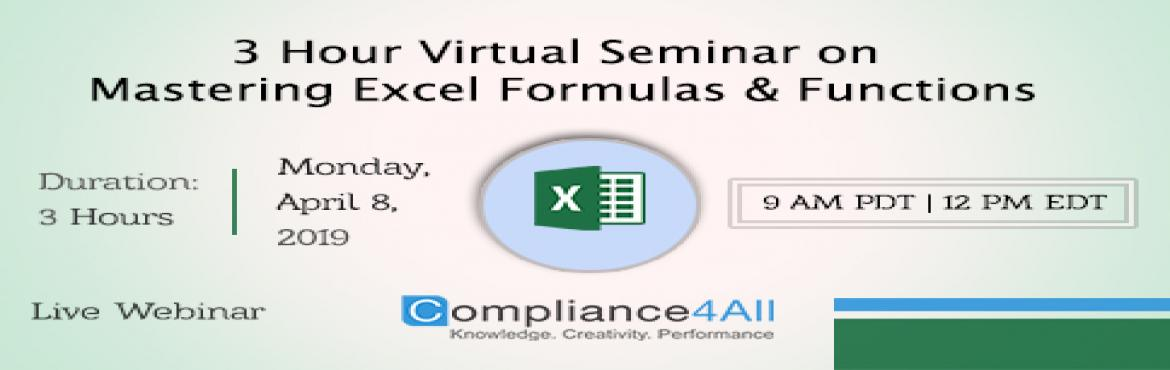 Book Online Tickets for Best Mastering Excel Formulas and Functi, Fremont.  Overview:Functions are built-in formulas that have been programmed to perform a specific calculation. They range from the simple such as SUM and AVERAGE (used to calculate the total and average of numbers in a range of cells) to the powerful I