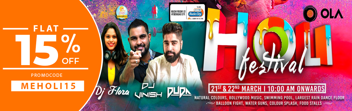 Book Online Tickets for Holi Festival at Country Club, Hyderabad. Celebrate this Holi Party with friends and loved ones with Rain Dance, Natural Colou