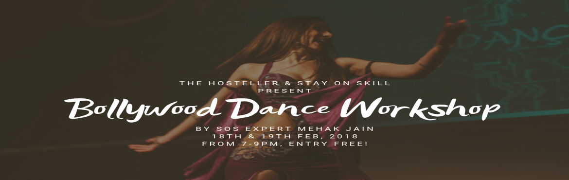 Book Online Tickets for Free Bollywood Dance Workshop by SOSTrib, Jaipur. Stay On Skill (SOS Tribe) is a community of hand picked skilled travelers who travel to teach their skills. SOS ExpertMehak Jain is coming to Jaipur, and coducting one of the best bollywood dance workshops that you\'ll ever attend. Move y