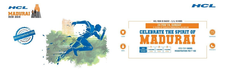 Book Online Tickets for HCL MADURAI RUN 2019, Madurai.  HCL Run is Back..!Celebrate the Spirit of Madurai! HCL Technologies - Madurai is organizing the 2nd Edition of Madurai Run on 24th Feb, 2019 at Gandhi Memorial Museum, Collector Office Rd, Tamukkam, Madurai.The Run is being organised to celebr