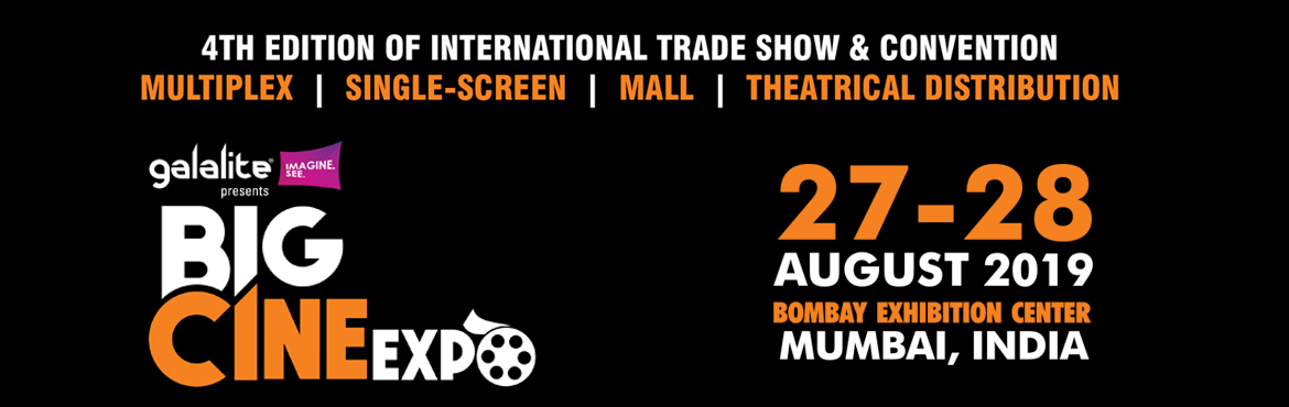 Book Online Tickets for BIG CINE EXPO 2019, Mumbai. After the gala opening of Big Cine Expo at Chennai, the second and third edition of the event turned out to be yet another grand success. Big Cine Expo 2019 at Mumbai is a one-of-its-kind event to successfully present an International Trade Show &