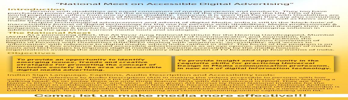 NATIONAL MEET ON DIGITIZATION & ACCESSIBLE ADVERTISEMENTS""