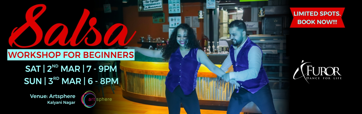 Book Online Tickets for Salsa Dance Workshop for Beginners | 2nd, Pune.  We are back with Salsa Dance Workshop for Beginners - March Edition.       Who is it for?   Designed for both non-dancers and dancers alike, this super fun and popular workshop is a perfect way to start your journey as a Salsa dancer.