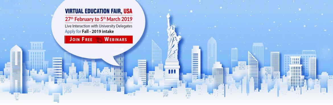 Book Online Tickets for USA Virtual Education Fair (Webinar): 27, Nagpur.  Krishna Consultants is conducting an Online Webinar for all students who are looking to pursue their education in USA. Ask your queries directly to university representatives and experience campus life in virtual reality! Apply to Fall 2019 int
