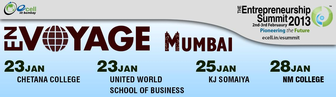 Book Online Tickets for En Voyage @ Unitedworld School of Busine, Mumbai. Wish you could get a glimpse of E-Summit before the actual event?