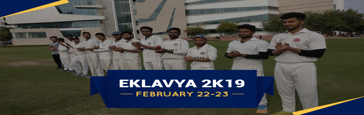 Book Online Tickets for Eklavya Annual Sports Event 2019 | Sures, Jaipur. SGVU is organizing Eklavya 2k19 an Annual Event. The motto of this event is to promote sportsmanship and inspiring them with a grand platform. We want to spread the importance of sports through this event in everyone\'s life. Sports play a pivo