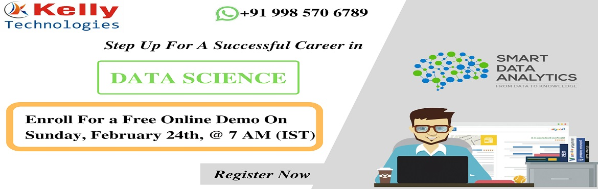 Book Online Tickets for Free Online Demo On Data Science Trainin, Hyderabad. About The Event- Data Scientist is the new demand at the global market to analyze large complex of digital data. The best jobs right now in the current IT world include various job titles such as Data Scientist, Data Engineer, and Business analysts.