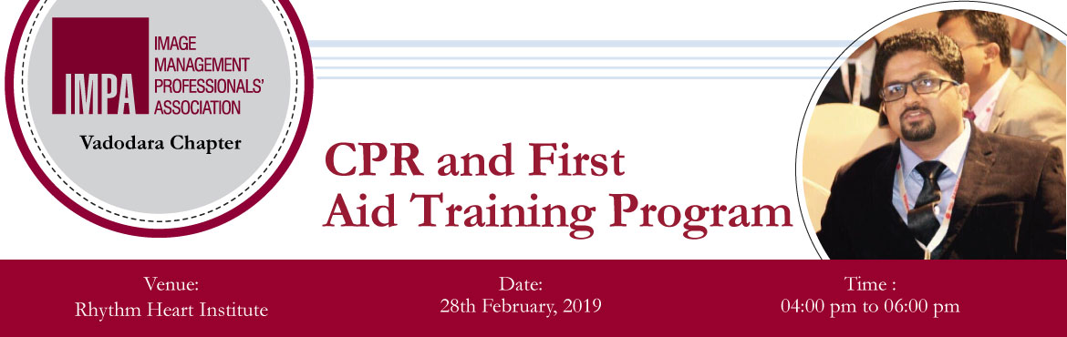 Book Online Tickets for CPR and First Aid Training Program, Vadodara. About Dr Ravirajsinh Gohil  Dr. Ravirajsinh was a resident at the Dept. of Anaesthesia, B.J. Medical College, Ahmedabad, from May 2005 to April 2008, and had learned every kind of Anaesthesia procedures like Spinal, Epidural, General and Region