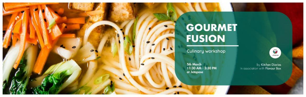 Book Online Tickets for GOURMET FUSION, Hyderabad. Kitchen Diaries and Home Chef Anushree Seksaria from Flavour Box are coming together to Hyderabad for the first time to bring to you a two-part culinary workshop at Jxtapose. Part 1 : 5th March at 11:30 AM : Gourmet FusionRight from Lebanese to